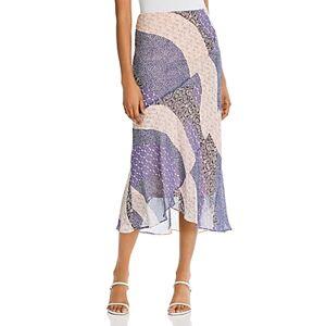 Bb Dakota x Steve Madden Patch Me In Ruffled Maxi Skirt  - Female - Steel Lavender - Size: Large