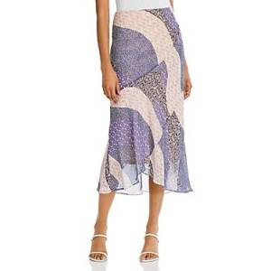 Bb Dakota x Steve Madden Patch Me In Ruffled Maxi Skirt  - Female - Steel Lavender - Size: Large