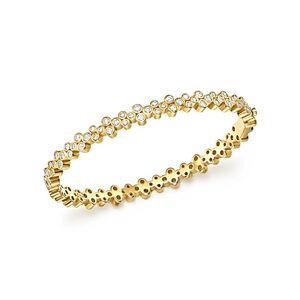 Temple St. Clair 18K Yellow Gold Eternity Diamond Trio Bangle Bracelet  - White/Gold