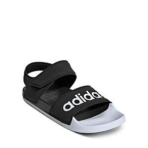 adidas Women's Adilette Sandals  - Female - Black/White - Size: 6