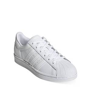 adidas Women's Superstar Lace Up Sneakers  - White/White - Size: 11