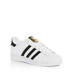 adidas Women's Superstar Lace Up Sneakers  - Female - White/Black - Size: 9