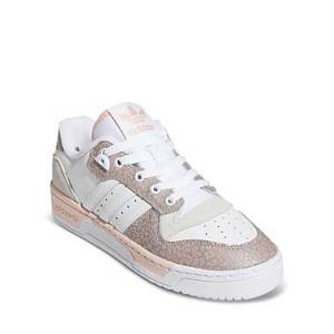 adidas Women's Rivalry Low Top Lace Up Sneakers  - Cloud White / Vapour Pink / Grey One - Size: 11