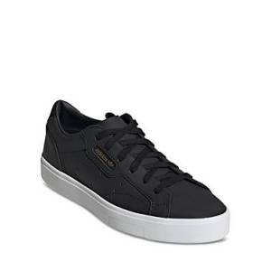 adidas Women's Sleek Low Top Lace-Up Sneakers  - Black - Size: 11