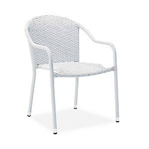 Sparrow & Wren Avalon 2 Piece Outdoor Wicker Stackable Chair Set  - White