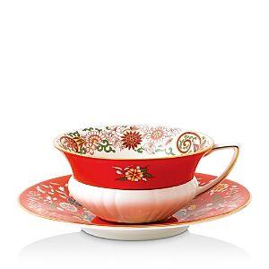 Wedgwood Wonderlust Teacup & Saucer Set  - Crimson