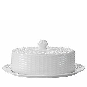 Wedgwood Nantucket Basket Covered Butter  - White