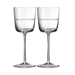 Wedgwood Vera Wang Wedgwood Bande Wine Glass, Set of 2  - No Color