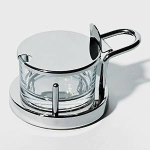 Alessi Ettore Sottsass Parmesan Cheese Cellar  - Silver