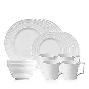 Wedgwood Intaglio 16-Piece Dinnerware Set  - White