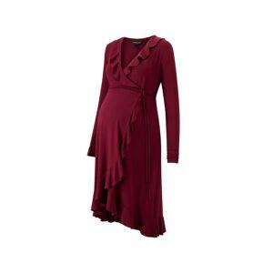 Isabella Oliver Maternity Aurelia Maternity Wrap Dress-Wine  - Size: Female