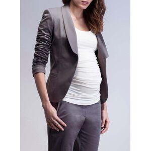 Isabella Oliver Maternity Amalfi Maternity Blazer-Ash Grey  - Size: 8