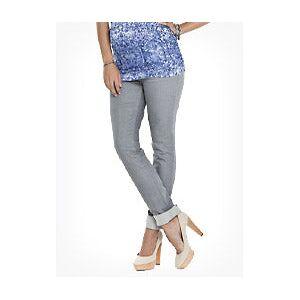 Isabella Oliver Maternity Bardot Maternity Jeans-Dove Grey  - Size: 8 R