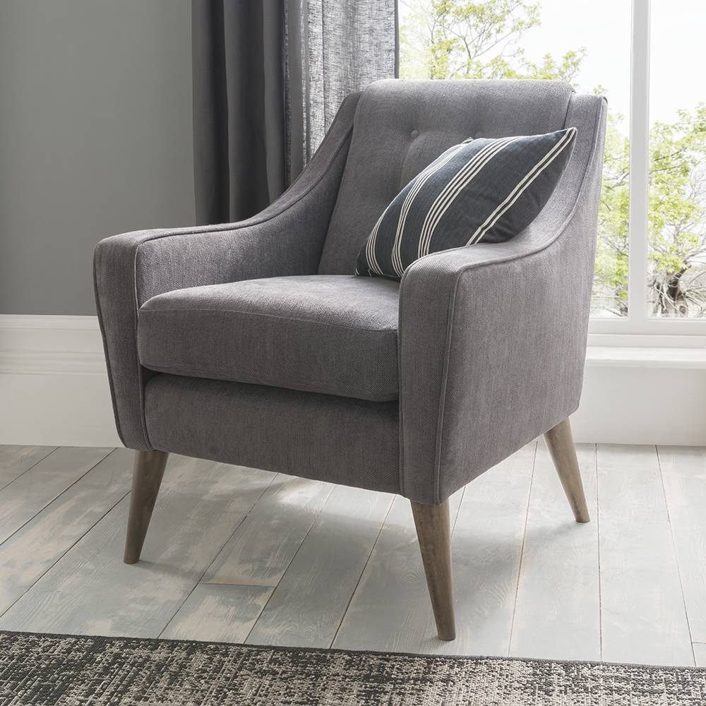 Silentnight Loxton Chair, American Walnut Leg, Velav Sundance Teal