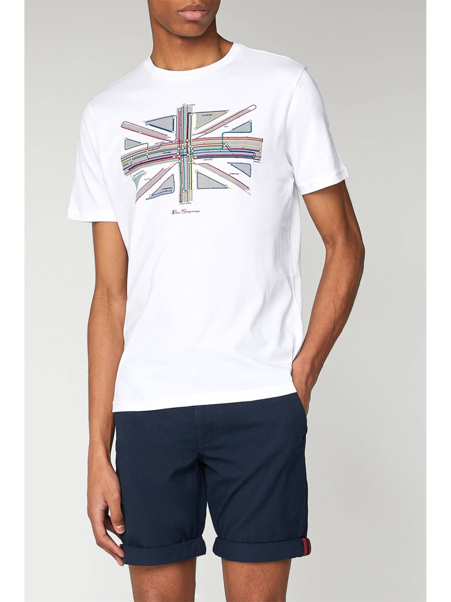 Ben Sherman White Underground Graphic T-Shirt Sml White
