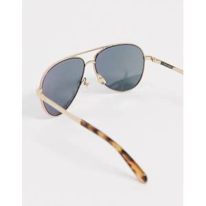 Kate Spade aviator sunglasses with tortoise shell tips-Gold  - Gold - Size: No Size