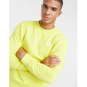 Nike Club crew neck sweat in lime-Green  - Green - Size: Large
