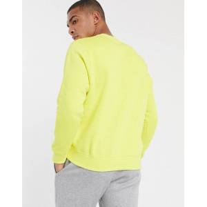 Nike Club crew neck sweat in lime-Green  - Green - Size: Small