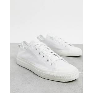 adidas Originals Nizza RF trainers in white canvas-Grey  - Grey - Size: 10