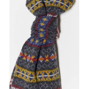 Abercrombie & Fitch pattered knitted scarf-Multi  - Multi - Size: One Size