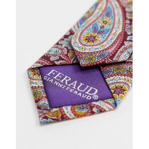 Gianni Feraud liberty print paisley print tie-Blue  - Blue - Size: One Size