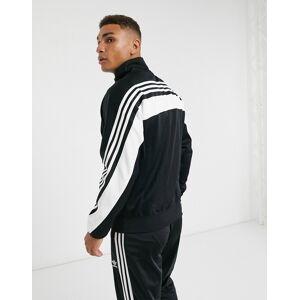adidas Originals 3-Stripe Wrap track top in black white  - Black - Size: Medium
