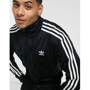 adidas Originals Firebird track top in black & white  - Black - Size: Medium