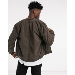 AllSaints Lows padded bomber jacket in brown  - Brown - Size: Medium