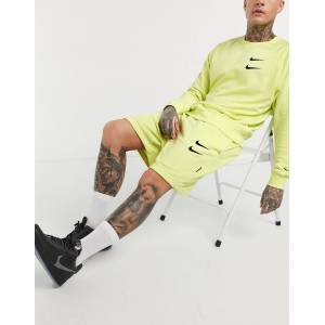 Nike Swoosh logo shorts in neon yellow  - 26548140217 - Size: Extra Small