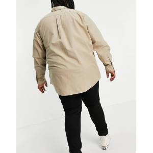 Polo Ralph Lauren Big & Tall garment dyed player logo oxford shirt custom regular fit in tan-Brown  - Brown - Size: 4X-Large