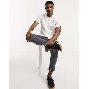 Polo Ralph Lauren short sleeve linen blend cuban revere collar shirt custom regular fit player logo in white  - White - Size: Medium