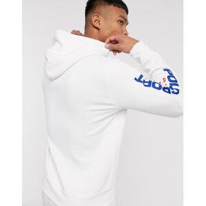Polo Ralph Lauren Sport Capsule logo sleeve hoodie in white  - White - Size: Medium