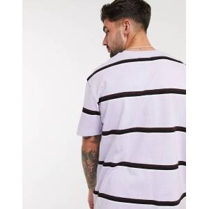 Topman striped t-shirt in lilac-Purple  - Purple - Size: 2XS