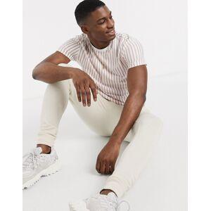 Topman t-shirt in pink & white stripe  - Pink - Size: Medium