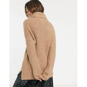 Abercrombie & Fitch longline cosy high neck jumper-Brown  - Brown - Size: Small