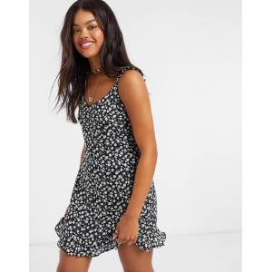 Abercrombie & Fitch strap back detail mini dress-Black  - Black - Size: Large