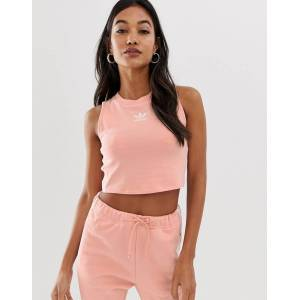 adidas Originals adicolor three stripe cropped tank in pink  - 26745227099 - Size: 10