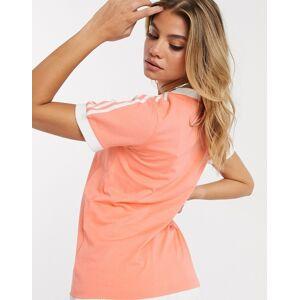 adidas Originals adicolor three stripe t-shirt in pink-Orange  - 26745234685 - Size: 22