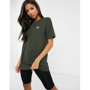 adidas Originals Essential mini logo t-shirt in khaki-Green  - 25141792441 - Size: Medium