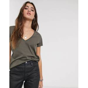 AllSaints emelyn tonic t-shirt in khaki-Green  - 25683049441 - Size: Medium