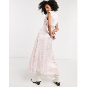AllSaints tate masala snake print maxi dress in soft pink  - Pink - Size: 6