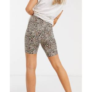 American Eagle legging short in leopard print-Brown  - Brown - Size: Extra Small