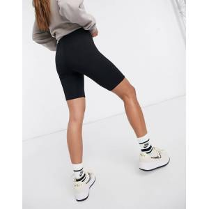 ASOS DESIGN basic legging shorts-Black  - Black - Size: 18