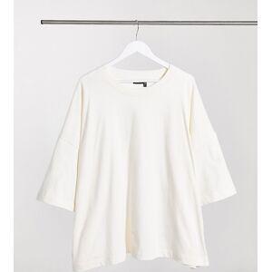 ASOS Curve ASOS DESIGN Curve super oversized t-shirt in bone-Beige  - Beige - Size: 18