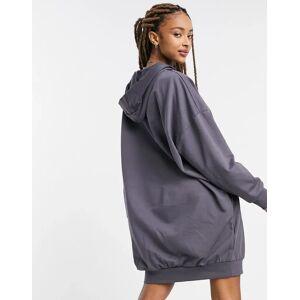 ASOS DESIGN hoodie sweat dress in grey-Brown  - Brown - Size: 18
