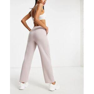 ASOS DESIGN jersey WFH sweat jogger in lilac grey-Purple  - Purple - Size: 18