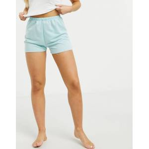 ASOS DESIGN lounge jogger short in pale blue-Green  - Green - Size: 18