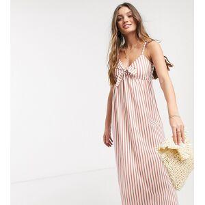 ASOS Petite ASOS DESIGN Petite cami bow front maxi sundress in rose stripe-Multi  - 26236824911 - Size: 4