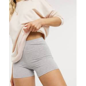 ASOS DESIGN shorter legging short in grey marl  - Grey - Size: 18