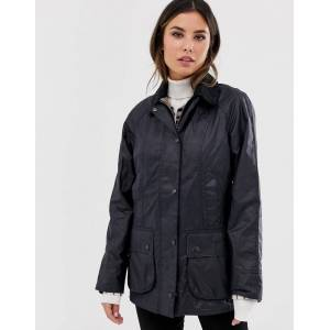 Barbour Beadnell wax jacket-Navy  - Navy - Size: 12